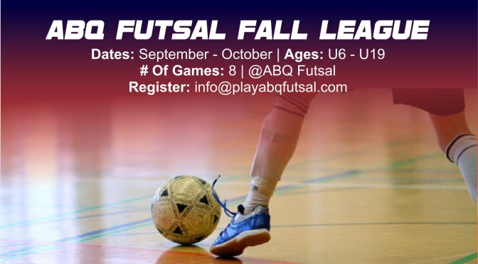 Register – Fall Futsal
