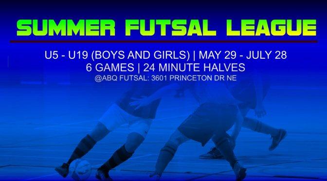 Register | summer futsal | Starts June 8